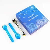 Facial Ice Globes for Face Eye Massage & Derma Roller Titanium Microneedle Rollers Skin Care Massager Sets Beauty Ices Balls