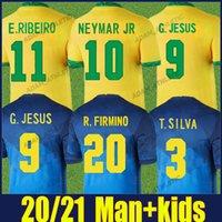Brasil Soccer Jerseys Copa America Casemiro Marquinhos Neymar Football Jersey البرازيلي Gabi Fred Fabinho Richarlison G.Jesus E.RIBEIRO القميص الوطني القمصان 2021