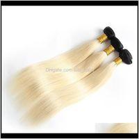WEFTS Ombre Bundles brasileiro Virgin Human Weaves Weft 1B613 Loira Dois Tom Não Transformados Perucain Indian Mongolian Hair Azrkx G3QCN