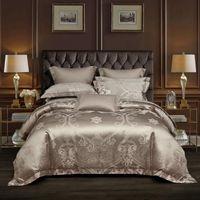 Bedding Sets 2021 Products 3D Jacquard Matte Embroidery Bed Sheet Set Quilt   Duvet Cover Luxury King Size 4-piece Set.