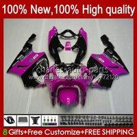 Carrocería corporal para Kawasaki Ninja ZX7R ZX750 Pink Black New ZX-7R ZX 7 R ZX 750 28HC.129 ZX 7R 96 97 98 99 00 01 02 03 ZX-750 1996 1997 1998 1999 2000 2001 2002 2003 Kit de carenización
