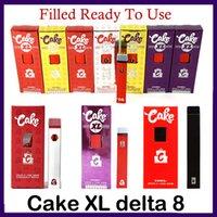 Заполненный торт XL Delta 8 D8 одноразовые E-сигареты Устройство полный грамм (1 мл) Емкость Пустой POD перезаряжаемый Vape Pen 280MAH аккумулятор для толстого масла