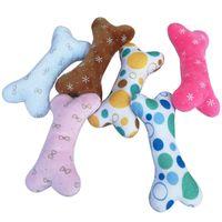 Hueso perro juguete masculina mordedura resistente al perrito chirrido juguete chirrido sonido divertido juguete para perros molar masticar juguetes aleatorio color