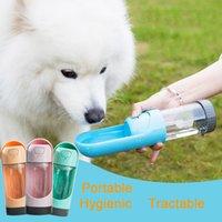 Portable Pet Water Water Feeder Dog Dog Accompagnatore Cat Cat Hygienic Outdoor Waters Autoscopi Bevitore Bottiglia per cani per cani TRACTION PUCE Rimovibili Animali ammessi