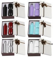 3pcs set Gift Wine Tumbler Mugs Set Stainless Steel Double Wall Insulated With One 500ml Bottle Two EWB6502