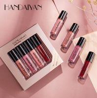 Conjuntos de brillo de labios de espejo hidratante portaiyan y cajas de regalo Matte Lipgloss 4 colores en 1 caja de maquillaje