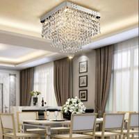 Ceiling Lights Modern Square Crystal Led Chandeliers Lamps Restaurant Hallway High Power Chandelier Light Fixture