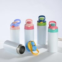 Water Bottles 12oz Sublimation Straight Cups Kids Mugs 304 Stainnless Steel Baby Bottle Drinking Tumbler Double Wall Vacuum