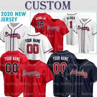 Braves Jerseys مخصص أتلانتا 13 رونالد Acuna Jr. Acuña 5 Freddie Freeman 7 Dansby Swanson Ozzie ألبيس Dale Murphy Chipper Jones Mike Soroka Ender Inciarte Max Fried