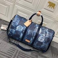 Bandoulière 50 Duffle Bag Дизайнерские Сумки на выходные 50см TravelHigh Quality Кожа ламажа К четностью переносятся на багаж