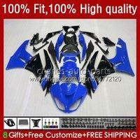 Bodys Injektion för Kawasaki Ninja ZX 6R 600 CC 6 R 636 ZX6R 09 10 11 12 13NO.74 ZX600 ZX636 ZX-636 600CC 2009 2010 2011 2012 ZX-6R ZX600C 2009-2012 OEM Fairings Blue Black