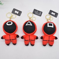 Squid plush doll with squid game character key chain bag Pendant