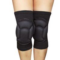 Almohadillas de la rodilla de codo 2 unids esponja cunera mangas de pierna de baloncesto de fútbol celular voleibol de fútbol de fútbol soporte de pantorrilla de calef ski ciclismo calentador