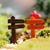 Wholesale Mini Fencing Fence Fairy Garden Miniatures Gnome Moss Terrariums Desktop Bottle Garden Resin Crafts 1882 V2