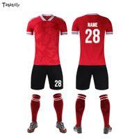 2021New DIY Soccer Jerseys Mens Fußball Jugend Uniform Kind Custom Training Kinder Shirts und Shorts Team Erwachsene Sports Sets Anzug