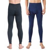 Мужское тепловое белье мужчины зимние дышащие брюки длинные Джонс теплые сонные одежда для скин