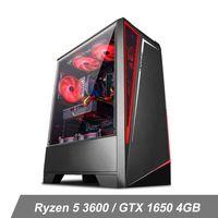 IPASON GAMING Desktop Ryzen 5 3600 fino a 4,2 GHz GTX1650 4 GB 8GB DDR4 3200MHz 500GB SSD NVME 550W Alimentazione RGB Fans Windows 10 Home