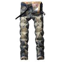 Männer Jeans 2021 Regelmäßige lässige Blue Plus Size-Hose fit für Männer