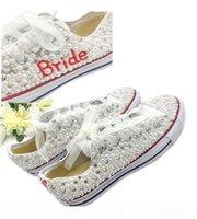 البلد نمط أحذية الزفاف المرأة البلورات اليدوية اللؤلؤ رياضة الزفاف شقة الأحذية قماش plimsoll وصيفة الشرف حذاء رياضة أحذية الحجم 34-44