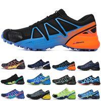 salomon sneakers عبر سرعة وصول جديد 4 رجال CS في الهواء الطلق الاحذية SpeedCross 4 عداء IV أسود أخضر المدربين الرجال الرياضة أحذية رياضية zapatos SCARPE 40-46