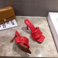 Nuovo marca Design Shoes Woman Slitters 2020 Summer Square Toe Tacchi alti Sandali Donne Tessuto di buona qualità Dress Shoes Fbs5yWhn