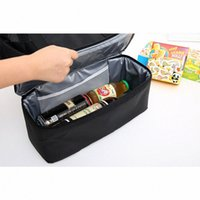 Diniwell Sac à lunch isolé en PVC Grand capacité sac à main sac à main pour pique-nique portable Eau résistant à l'eau Nylon F5pt #