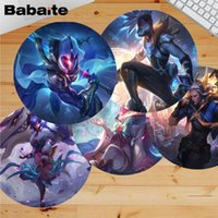 Mouse Pads & Wrist Rests Babaite Vintage Cool League Of Legends Latest Skin Laptop Computer Round Desk Mousepad Gaming Rug For PC Notebook
