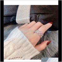 Banda anelli gioielli goccia consegna 2021 open pizzo maglia rete femminile design design luce luce lusso web celebrità indice indice dito regolabile col