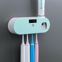 فرشاة الأسنان المطهر قابلة للشحن الطاقة الشمسية uv تطهير الحائط شنت حامل
