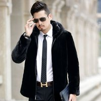 Enlarging Fattening and Fur Like Men's Wear Fat Man Coat Autumn Winter Designer Mink Cashmere Short Fit GRDO