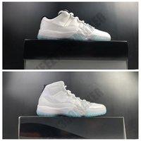 2021 Legend Blue Basketball Shoes OG Low High Jumpman 11 11S Blanco Negro Negro Real Fibra de carbono Hombres Zapatillas Deportes Deportes Zapatillas deportivas Tamaño 7.5-13 AV2187-117