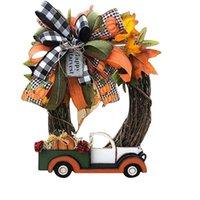 الزخرفية إكليل الزهور هالوين مزرعة اكليلا الديكور عيد الشكر اليقطين شاحنة قلادة نافذة الباب حزب جارلاند الإمدادات ل