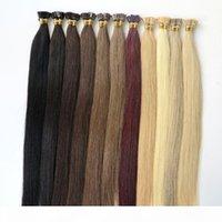 50g 50pcs Brazilian Human Hair Flat Tip Full Cuticle Remy Indan Peruvian Malaysian Keratin Pre-bonded Human Hair Extensions Lasting 2years