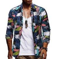 Rahat Tişörtleri Longs Kol Dönüşü Yaka Homme Giyim Çiçek Baskı Moda Stil Rahat Giyim Mens Yaz Tasarımcısı