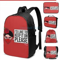 Funny Graphic Print Valentina Face Mask From Drag Race USB Charge Backpack Men School Bags Women Bag Travel Laptop