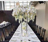 2021 novo estilo alto casamento acrílico mesa de cristal mesa de casamento colunas de casamento estante para decoração de mesa arranjos florais