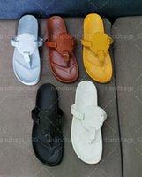 Top Luxo Mulheres Couro Slides Sandália Lady Lady Beach Sandálias Casuais Chinelos Senhoras Conforto Caminhada de Caminhadas