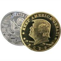 2025 트럼프 동전 기념 동전 아메리칸 45 번째 대통령 도널드 공예 기념품 골드 실버 금속 배지 컬렉션 비 통화 예술 및 공예 T2I52051