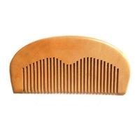木製のひげ櫛のブラシ支援レーザー刻まれたロゴ(MOQ 500pcs)木製の髪の櫛は男性の女性のグルーミング