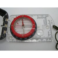 Outdoor Gadgets Sturdy Acrylic Ruler Magnifier Mirror Compass Lanyard Waterproof Pocket Size Camping Hiking Portable Adventure Dropship