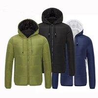 Windproof men's hooded down jacket