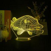 Nachtverlichting Galaxy Light Projector Kinderkamer Decoratie Grouper Afbeelding 3D LED Desk Acryl Lamp Kleur Wijzig Afstandsbediening Nachtlampje