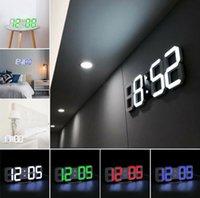 Цифровые настенные часы 3D светодиодные будильники электронные часы с большой температурой 12/24 часа дисплей дома гостиная офисная таблица стола