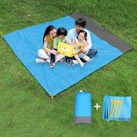 2x2.1m Pocket Coperte Giardino Forniture Pieghevole Camping Picnic Mats Materasso Materasso Portatile Leggero Spiaggia Spiaggia Sand Sand Impermeabile 9 colori