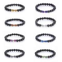 Bijoux à la main en gros Bracelet perlé en gros Bracelet hématite arrow Bracelet de lave en pierre de pierre énergétique essentielle Diffusion Bracelet