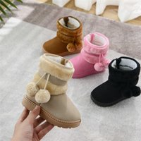 Scarpe per bambini 2021 Stivali da neve a sfera in lana Stivali per bambini addensati Scarpe in cotone caldo