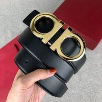 Hommes designers Courroies Womens Mens Mode Casual Business Business Boucle En Cuir Width 3.4cm avec boîte