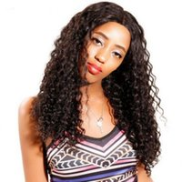 Mongolian Virgin Hair Lace Front Wigs with Baby Hair Natural Color Human Hair Wigs Glueless Deep Curly Wig