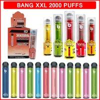 Bang XXL Одноразовые Vape Pods Устройство Электронные сигареты 800 мАч Силовой аккумулятор Предварительно заполненные 6 мл Жидкость 2000 Средства сигареты CIG