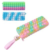 Fidget Toys Push Bubble Pencil Case Phone Wallet Bags Fashion Decompression Women Cosmetic Storage Bag